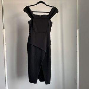 Mustard Seed Off the Shoulder Black Dress